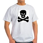 Skull and Crossed Bones Ash Grey T-Shirt