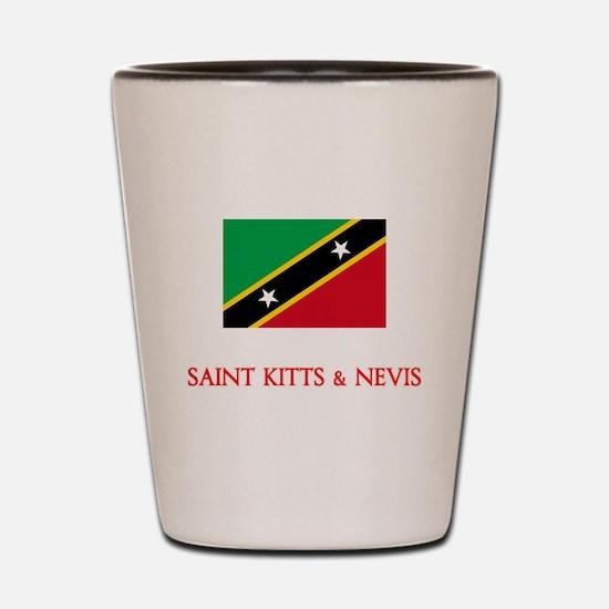 Saint Kitts & Nevis Flag Design Shot Glass