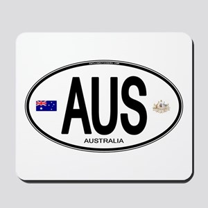 Australia Intl Oval Mousepad