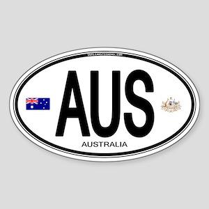 Australia Euro Oval Oval Sticker