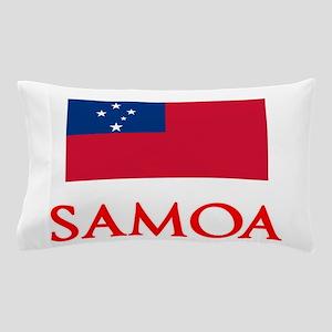 Samoa Flag Design Pillow Case