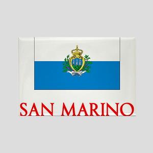 San Marino Flag Design Magnets
