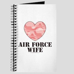 Air Force Wife Camo Heart Journal