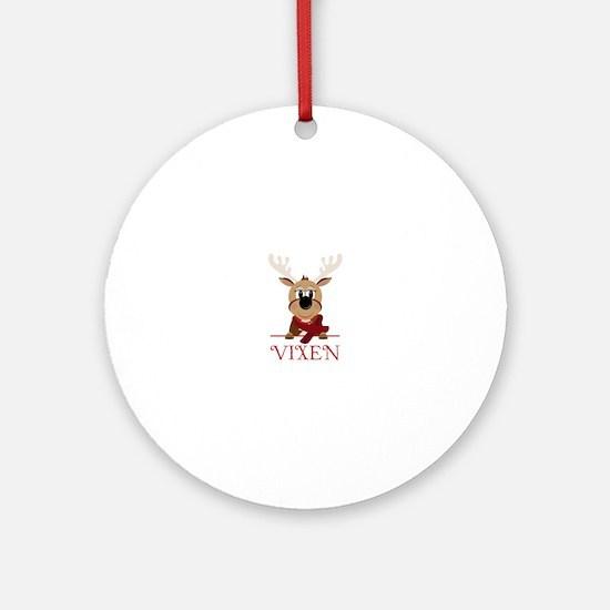 Vixen Ornament (Round)