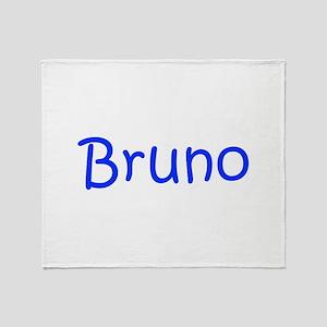 Bruno-kri blue Throw Blanket
