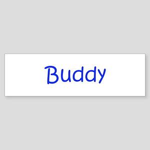 Buddy-kri blue Bumper Sticker