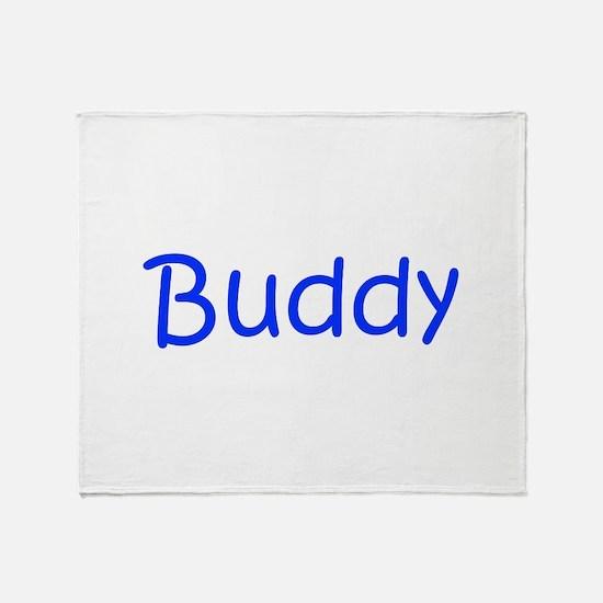 Buddy-kri blue Throw Blanket