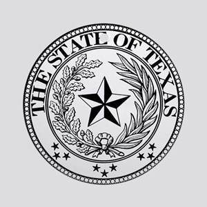 Texas State Seal Ornament (Round)