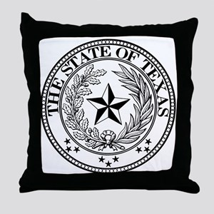 Texas State Seal Throw Pillow