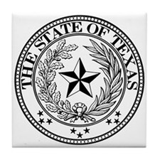Texas State Seal Tile Coaster