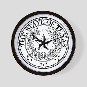 Texas State Seal Wall Clock