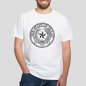 Texas State Seal White T-Shirt