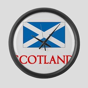 Scotland Flag Design Large Wall Clock