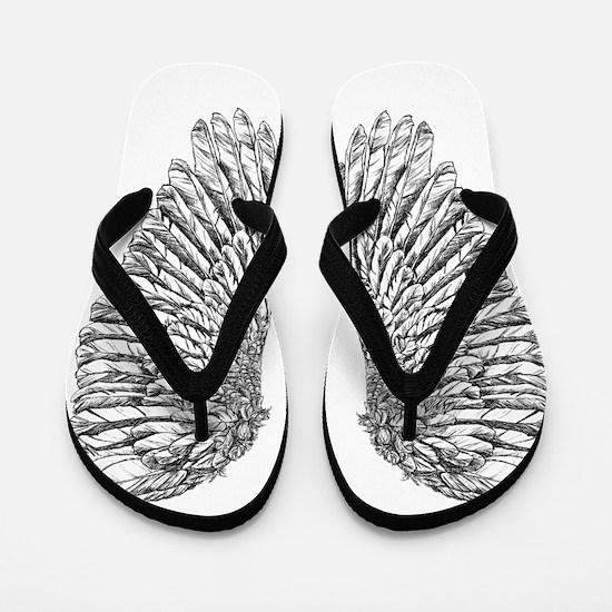 Angel Wings Flip Flops