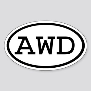 AWD Oval Oval Sticker