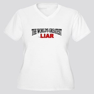 """The World's Greatest Liar"" Women's Plus Size V-Ne"