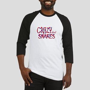 Crazy About Snakes Baseball Jersey
