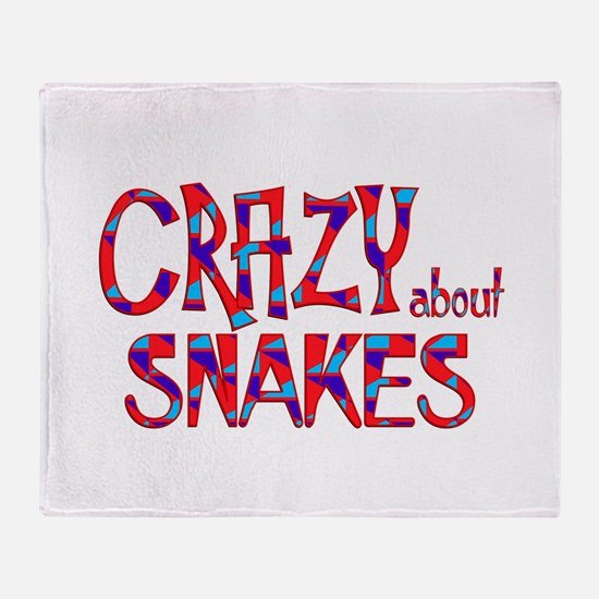 Crazy About Snakes Throw Blanket
