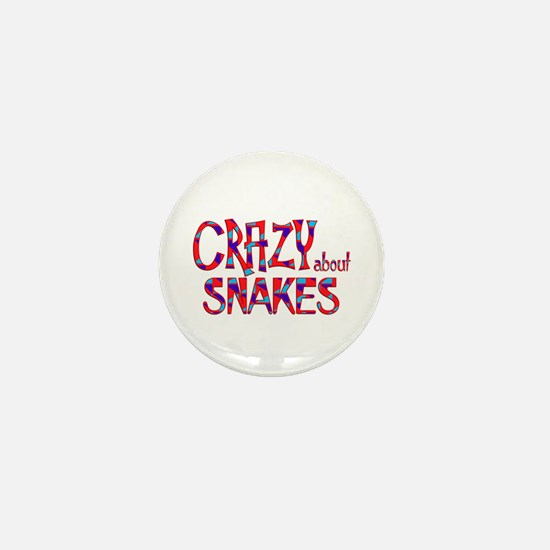 Crazy About Snakes Mini Button