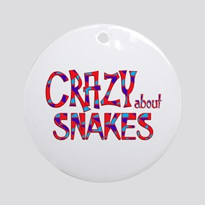 Crazy About Snakes Round Ornament
