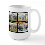 Original Yorkshire Terrier Art on a Large Mug