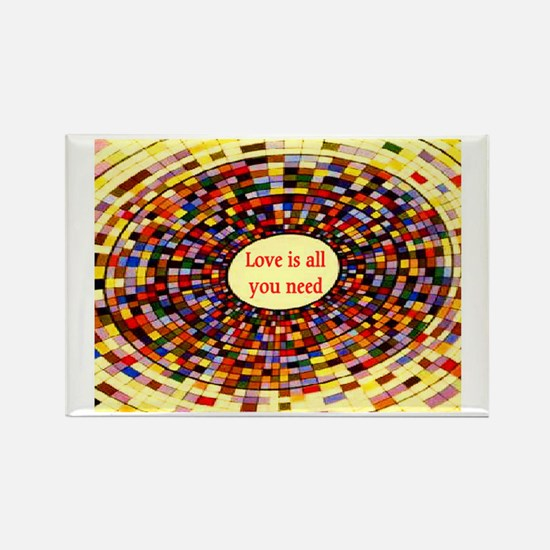 LOVE IS ALL YOU NEED Rectangle Magnet (10 pack)