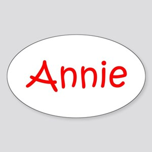 Annie-kri red Sticker