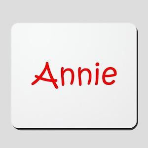 Annie-kri red Mousepad