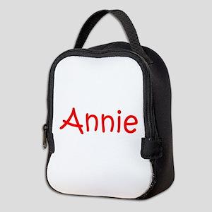 Annie-kri red Neoprene Lunch Bag