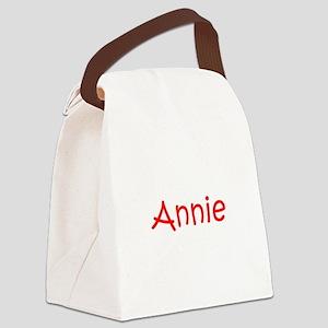 Annie-kri red Canvas Lunch Bag