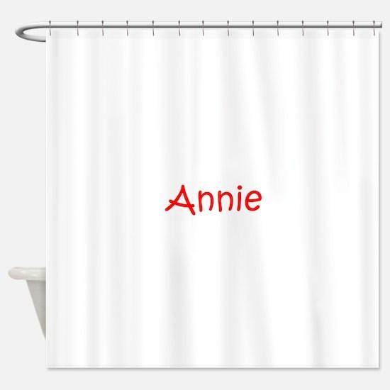 Annie-kri red Shower Curtain