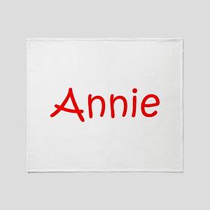 Annie-kri red Throw Blanket