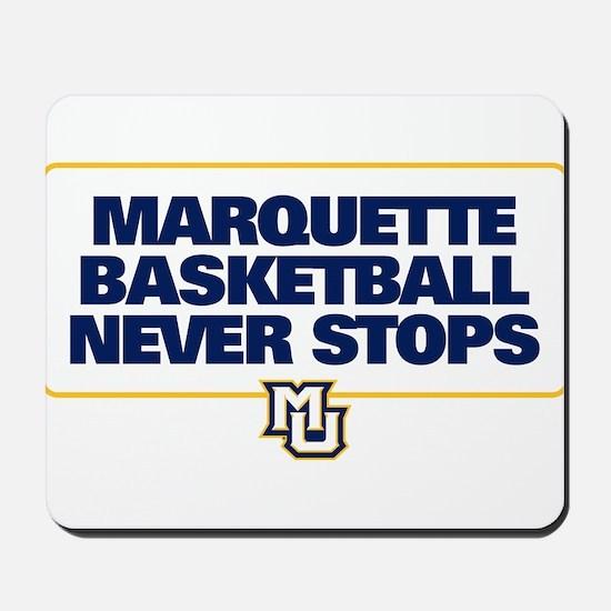 Marquette Golden Eagles Basketball Never Mousepad