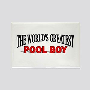 """The World's Greatest Pool Boy"" Rectangle Magnet"
