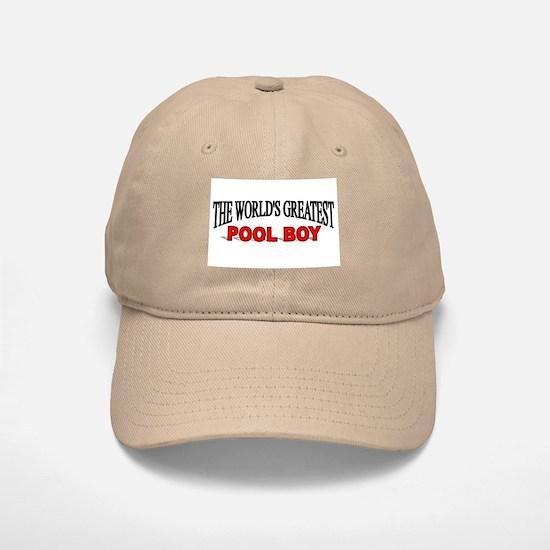 """The World's Greatest Pool Boy"" Baseball Baseball Cap"