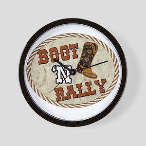 Boot 'N Rally Wall Clock