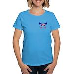 Salute Our Troops Heart Flag Women's Dark T-Shirt