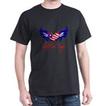 Salute Our Troops Heart Flag Dark T-Shirt