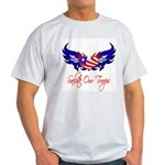 Salute Our Troops Heart Flag Light T-Shirt