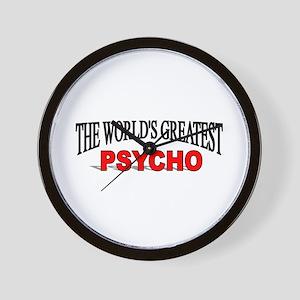 """The World's Greatest Psycho"" Wall Clock"