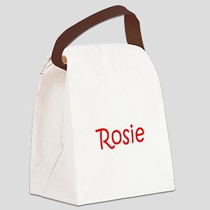 Rosie-kri red Canvas Lunch Bag
