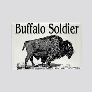 BUFFALO SOLDIER Rectangle Magnet