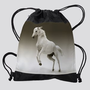 White Horse Drawstring Bag