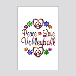 Peace Love Volleyball Mini Poster Print