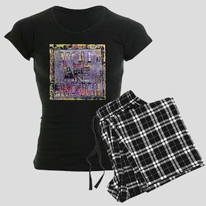 You are enough, inspirationa Women's Dark Pajamas