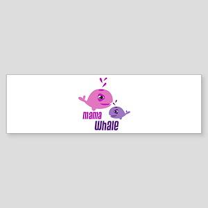 Mama Whale Bumper Sticker