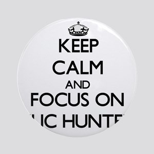 Keep Calm and focus on Relic Hunt Ornament (Round)