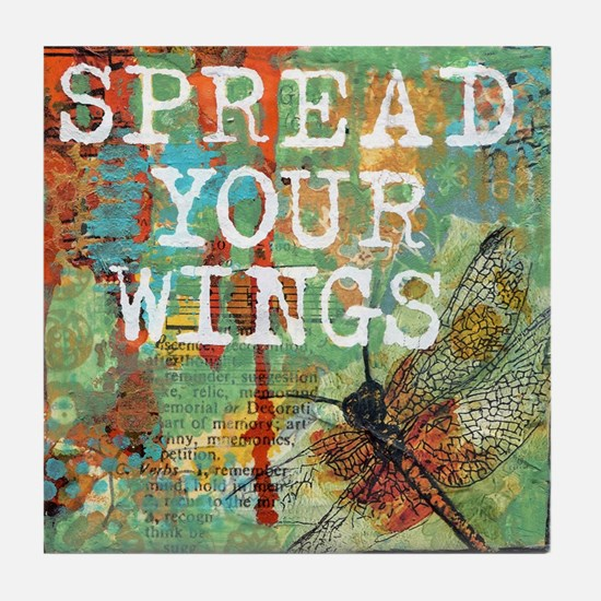 Dragonfly Spread Your Wings Tile Coaster