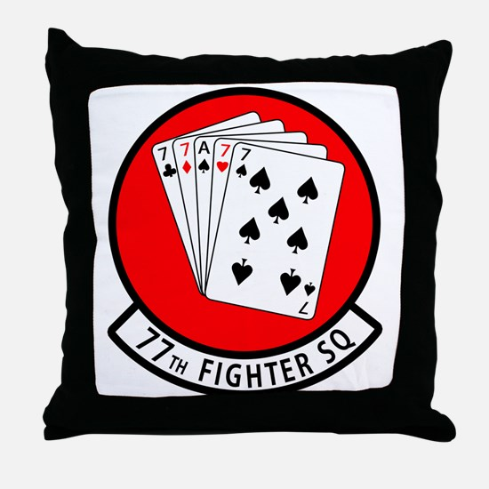 77SQ.png Throw Pillow
