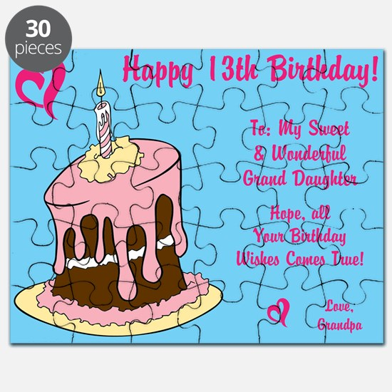 13th birthday daughter 13th birthday daughter stationery cards happy 13th birthday card from grandpa puzzle bookmarktalkfo Gallery